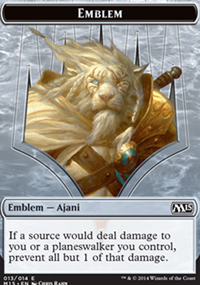 Emblem Ajani Steadfast - Magic 2015