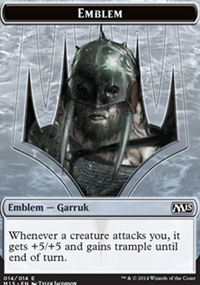 Emblem Garruk, Apex Predator - Magic 2015