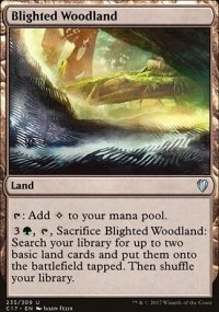 Blighted Woodland - Commander 2017