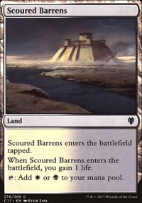 Scoured Barrens - Commander 2017
