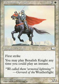 Benalish Knight - Anthologies