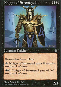 Knight of Stromgald - Anthologies