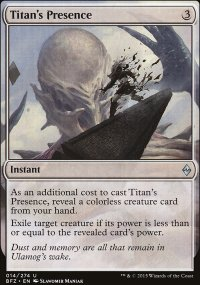 Titan's Presence - Battle for Zendikar