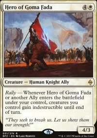 Hero of Goma Fada - Battle for Zendikar