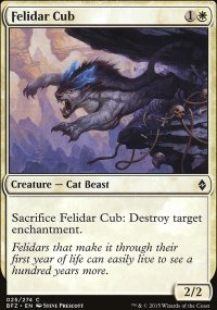 Felidar Cub - Battle for Zendikar