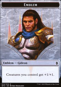 Emblem Gideon, Ally of Zendikar - Battle for Zendikar