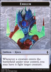 Emblem Kiora, Master of the Depths - Battle for Zendikar