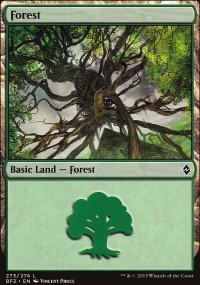 Forest 8 - Battle for Zendikar