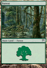 Forest 3 - Champions of Kamigawa