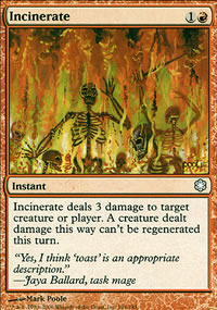 Incinerate - Coldsnap Theme Decks