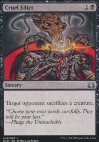 Cruel Edict - Duel Decks : Anthology