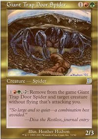 Giant Trap Door Spider - Deckmasters