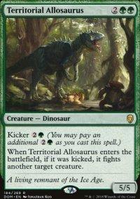 Territorial Allosaurus -