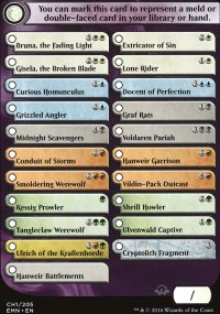 Double-faced cards Checklist - Eldritch Moon