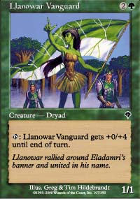 Llanowar Vanguard - Invasion