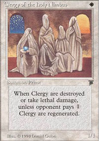 Clergy of the Holy Nimbus - Legends
