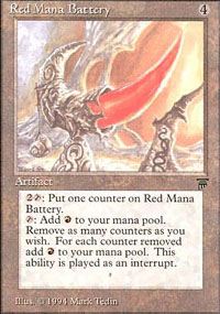 Red Mana Battery - Legends