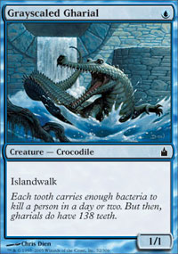 Grayscaled Gharial - Ravnica