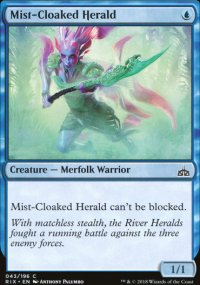 Mist-Cloaked Herald - Rivals of Ixalan