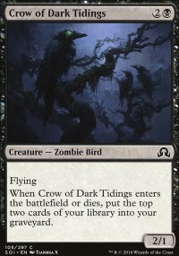 Crow of Dark Tidings - Shadows over Innistrad