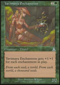 Yavimaya Enchantress - Urza's Destiny