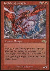Lightning Dragon - Urza's Saga