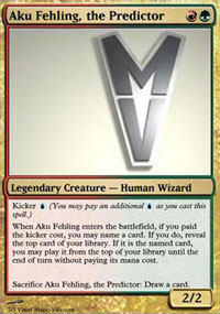 Aku Fehling, the Predictor - Virtual cards