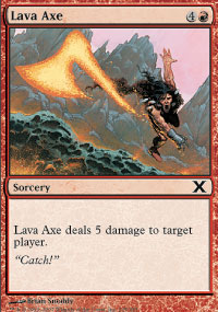 Lava Axe - 10th Edition