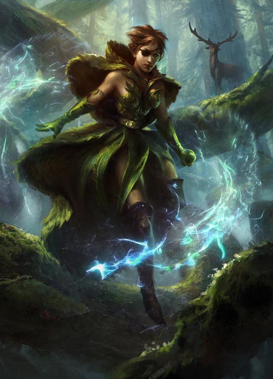 Freyalise, Llanowar's Fury | Illustration by Adam Paquette