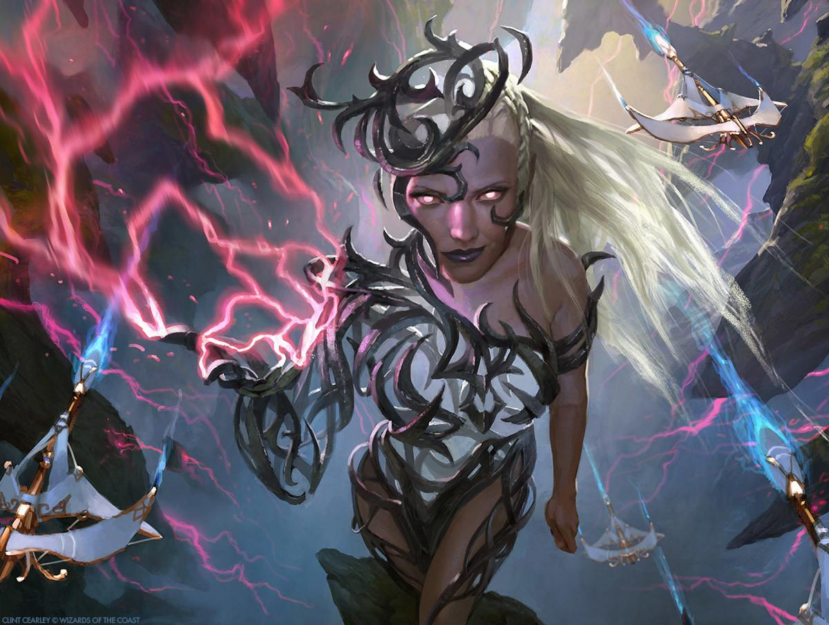 Breya, Etherium Shaper   Illustrated by Clint Cearley