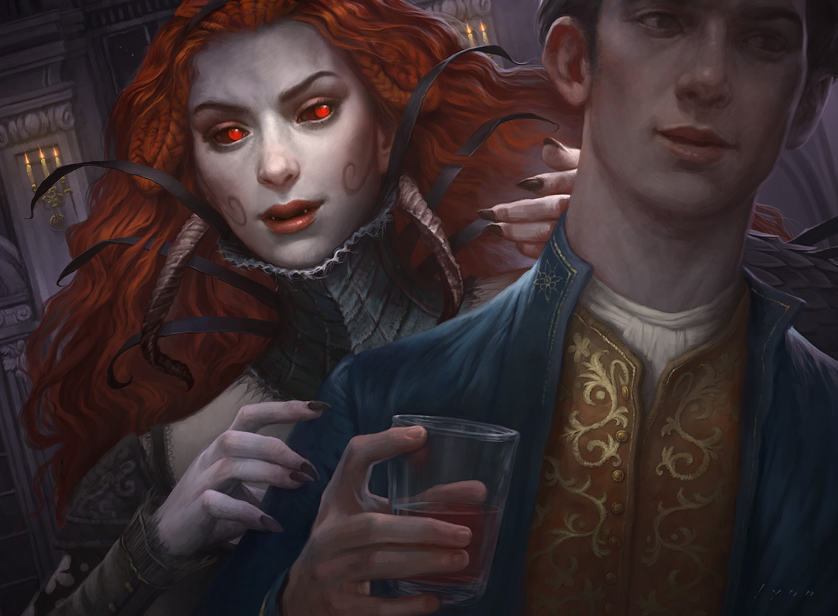 New Blood MTG card art by Howard Lyon