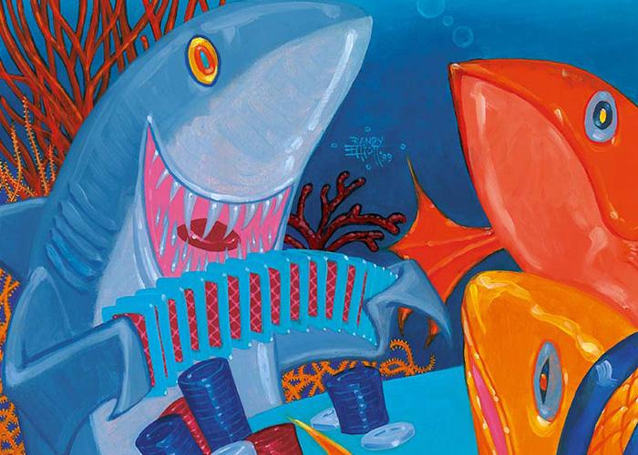 Card Shark | Illustration by Randy Elliott