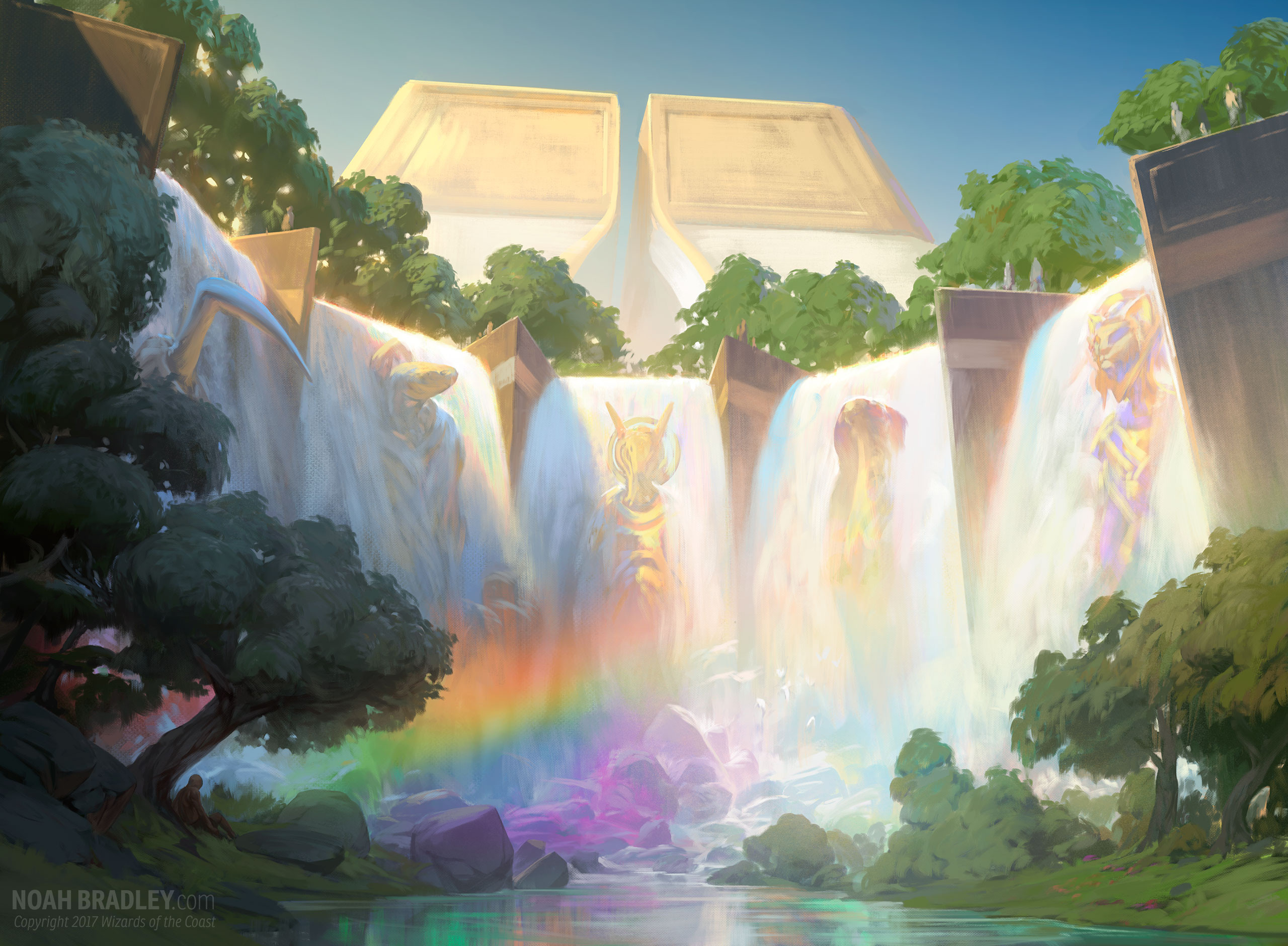 Cascading Cataracts | Illustration by Noah Bradley