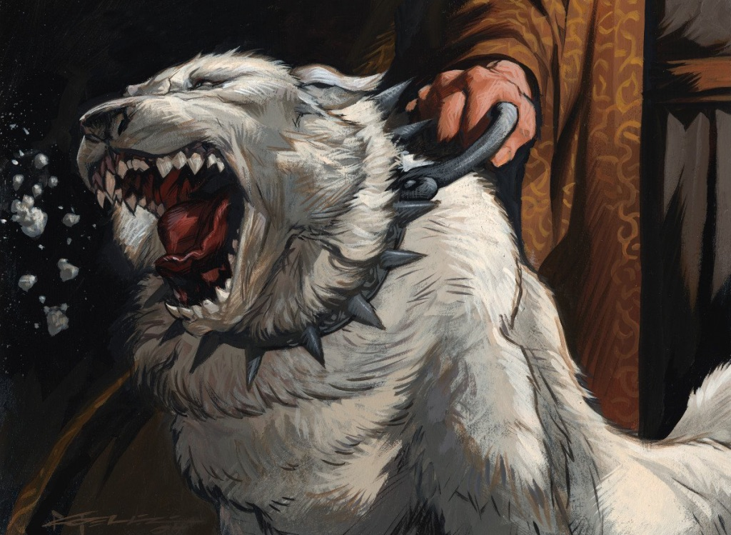 Isamaru, Hound of Konda MTG card art by Christopher Moeller