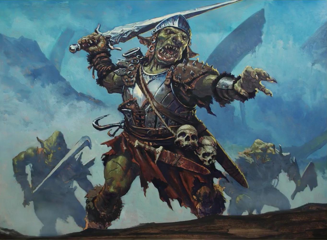 Goblin Warchief | Illustration by Karl Kopinski