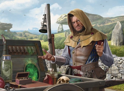 Merchant of the Vale | Illustration by David Gaillet
