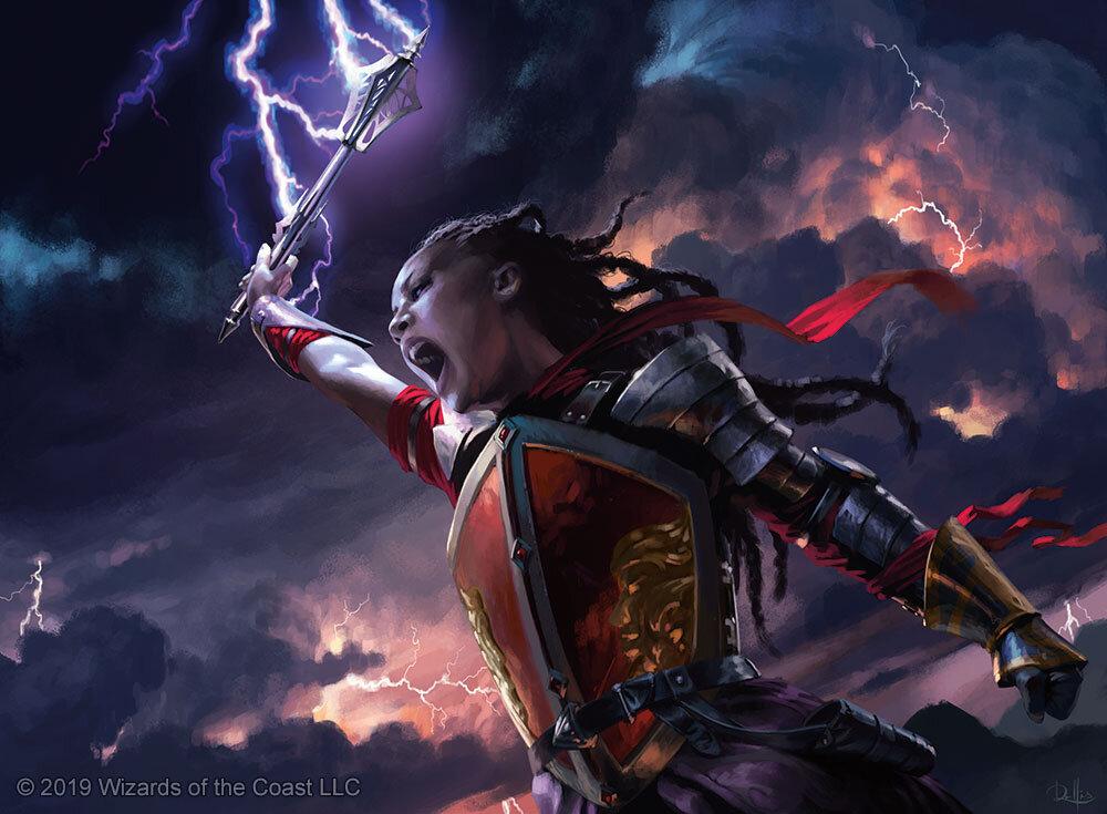 Stormfist Crusader | Illustration by Chris Rallis