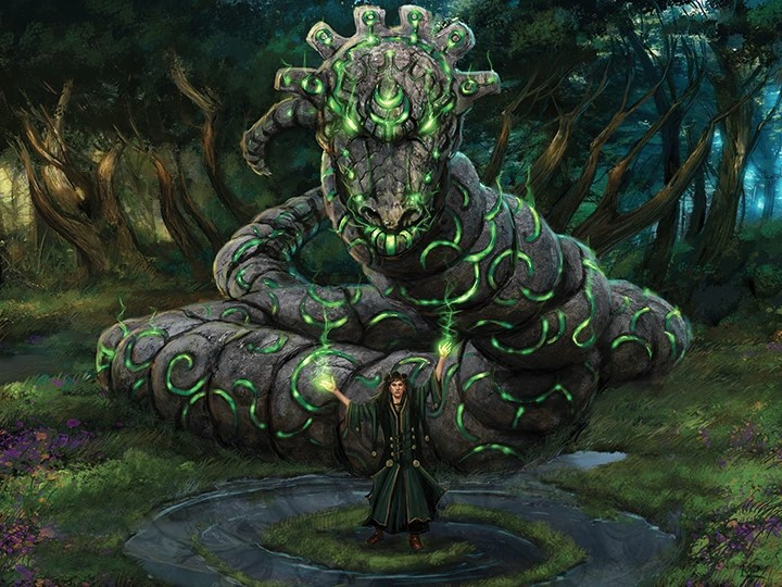 Stonecoil Serpent | Illustration by Mark Poole