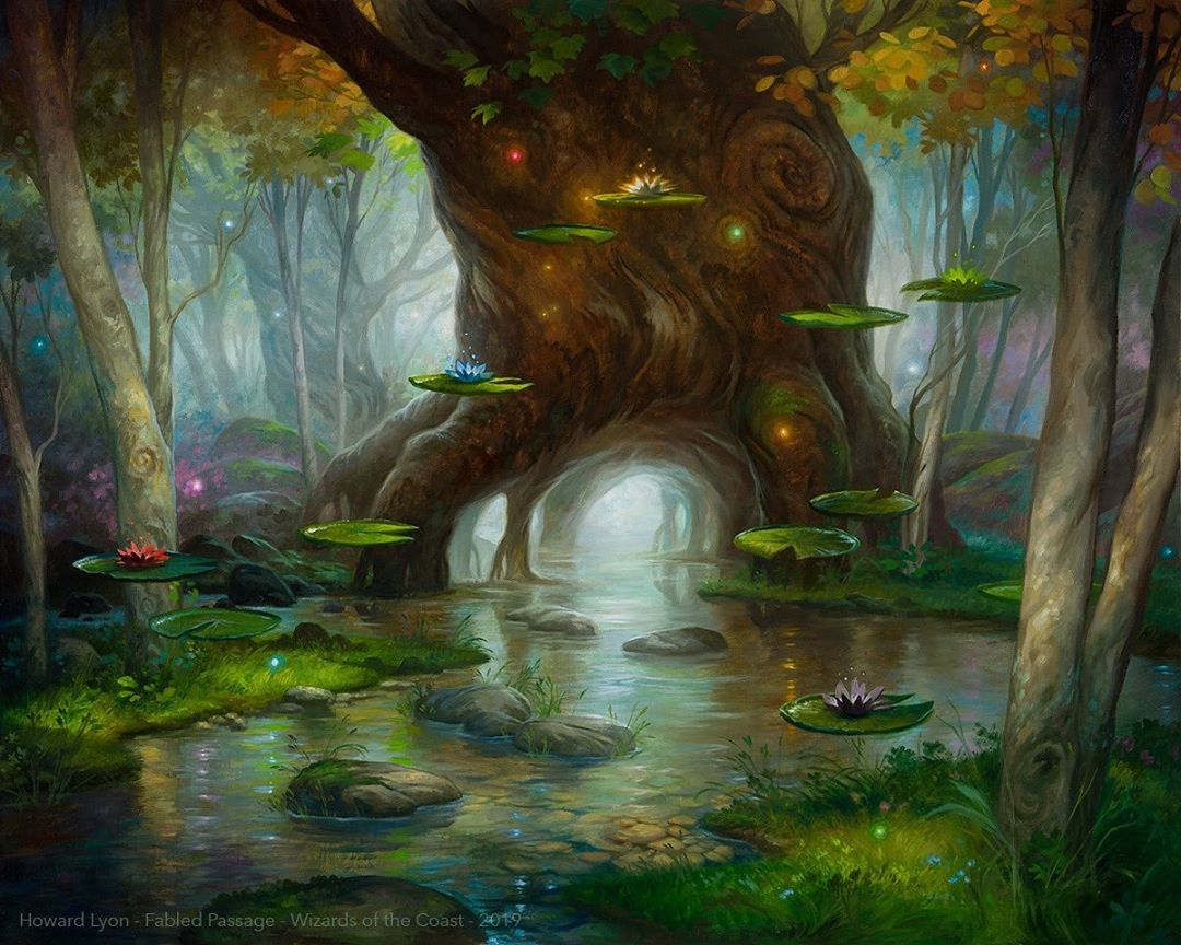 Fabled Passage | Illustration by Howard Lyon