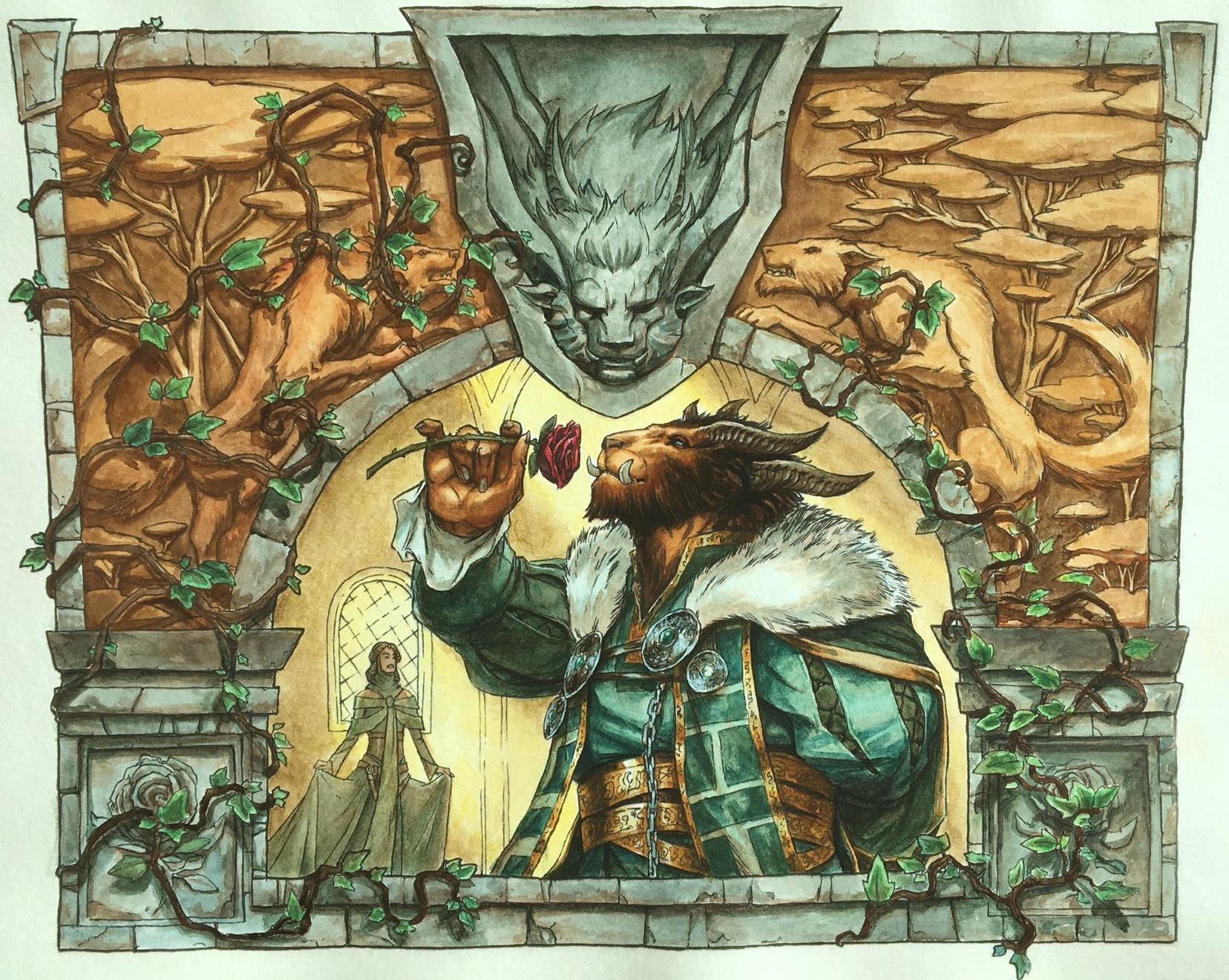 Lovestruck Beast (Alternate Art) | Illustration by Tyler Walpole