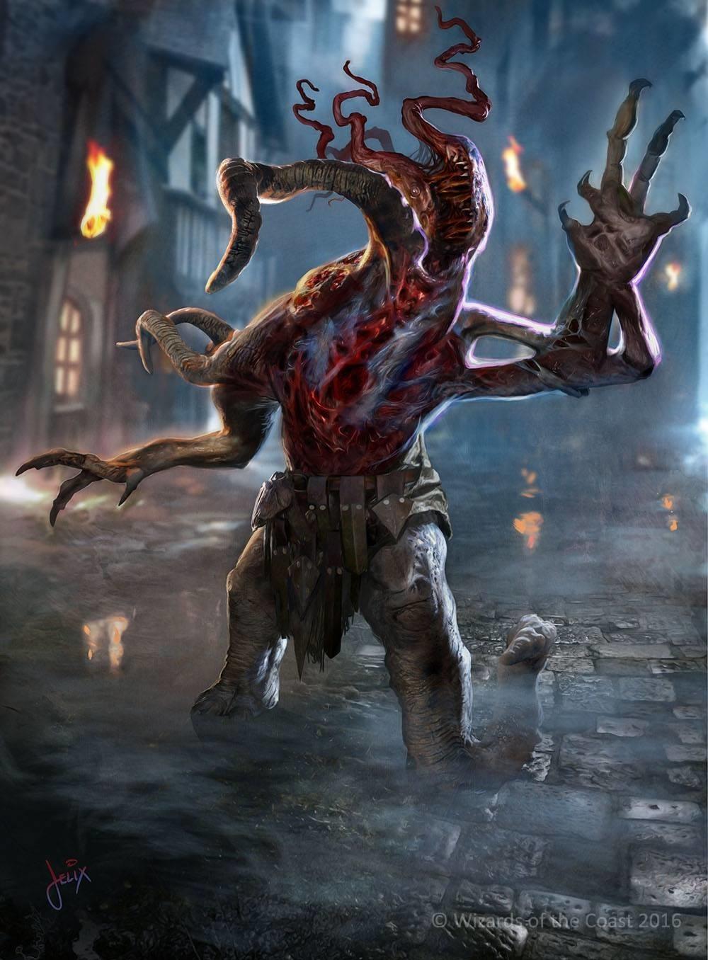 Eldrazi Horror | Illustration by Jason Felix