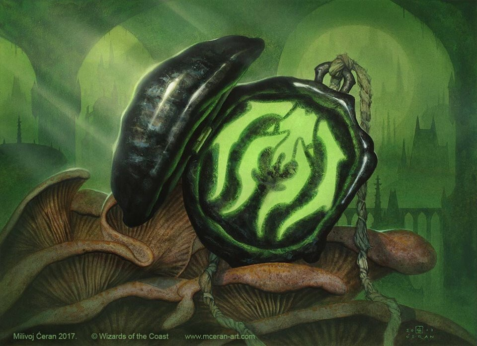 Golgari Locket | Illustration by Aaron Miller