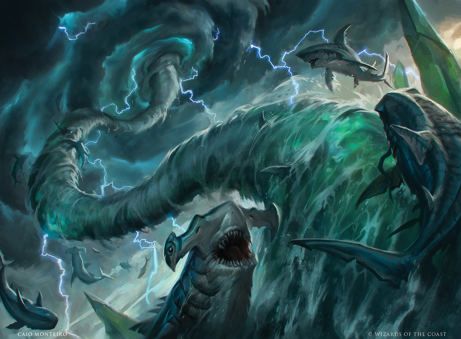 Shark Typhoon | Illustration by Caio Monteiro