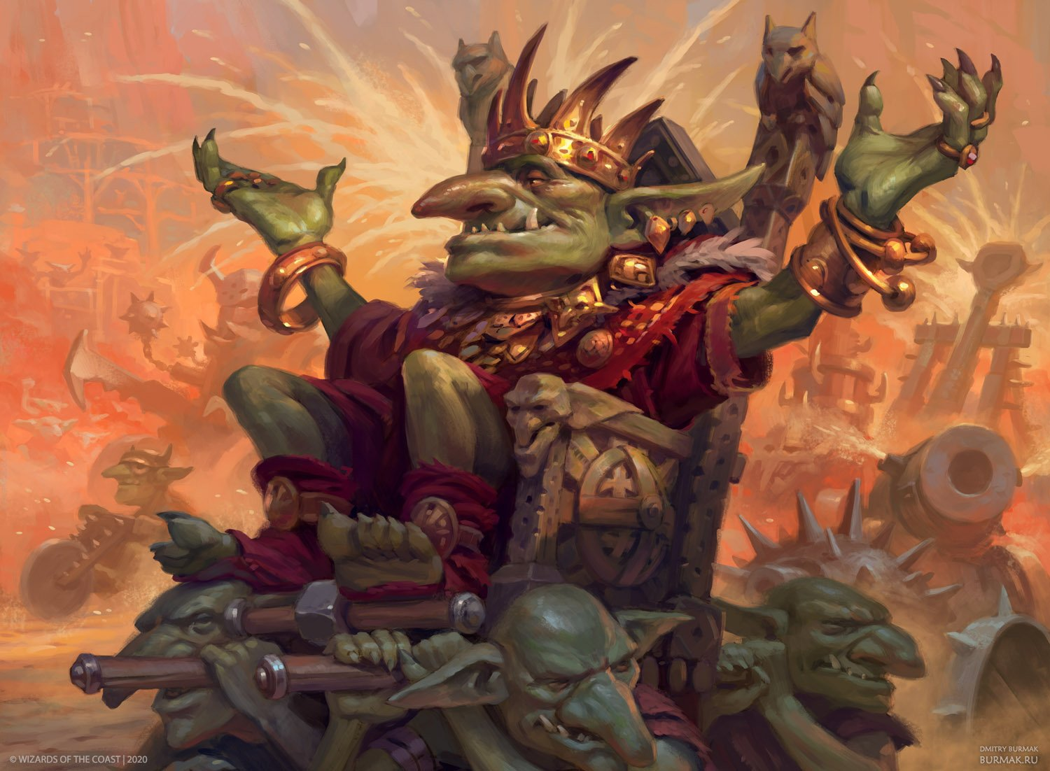 Muxus, Goblin Grandee | Illustration by Dmitry Burmak