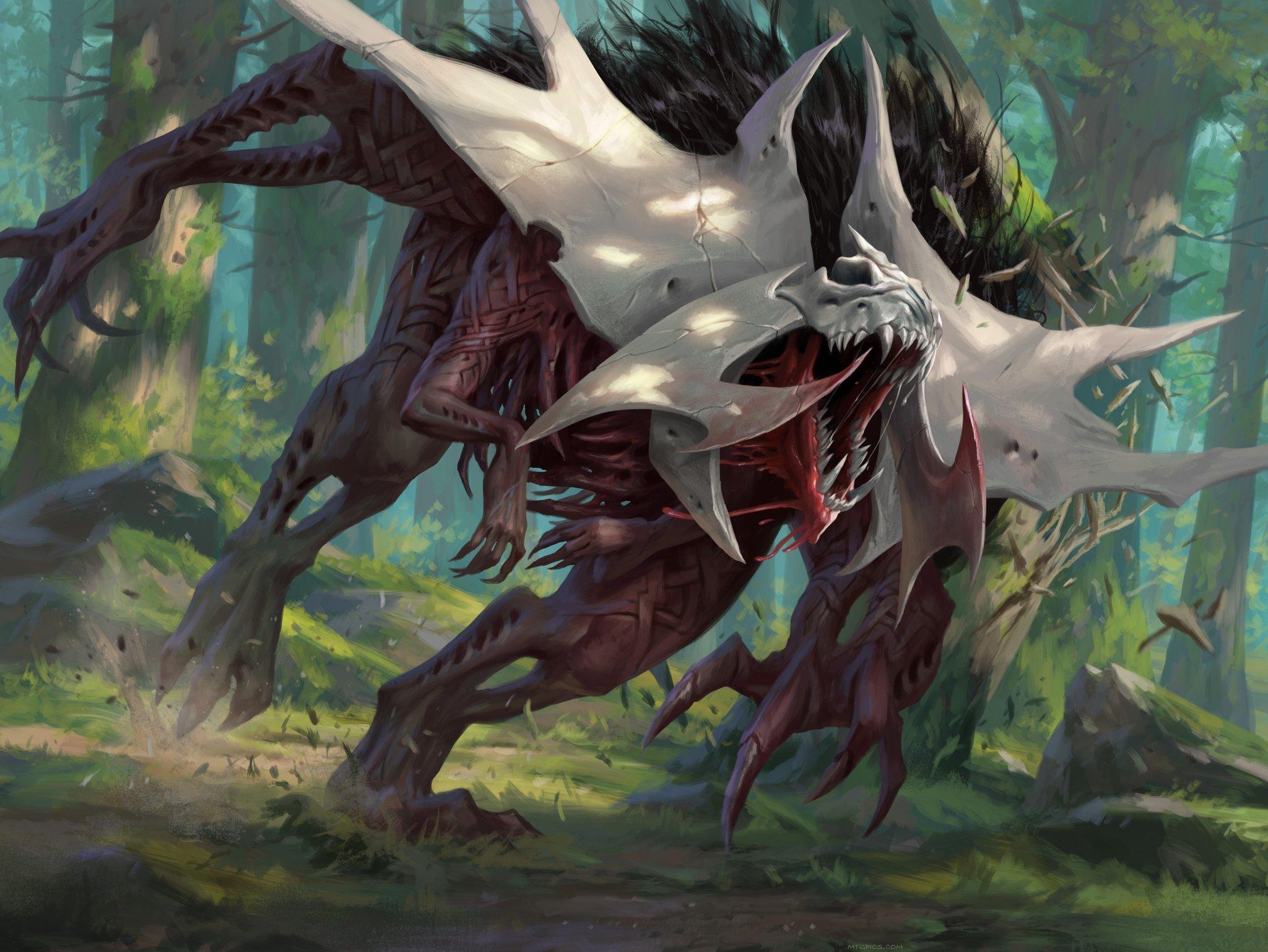 Vorinclex, Monstrous Raider   Illustration art by Daarken
