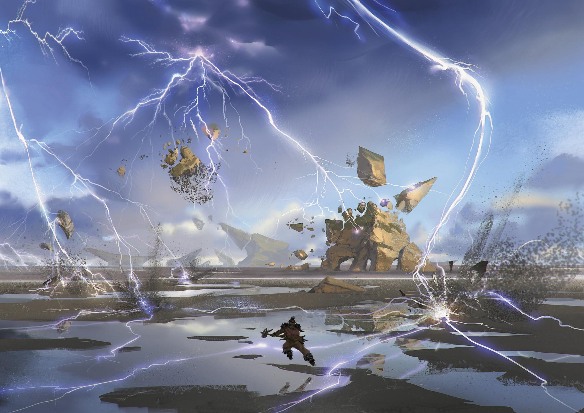 Crackling Doom   Illustration by Yohann Schepacz