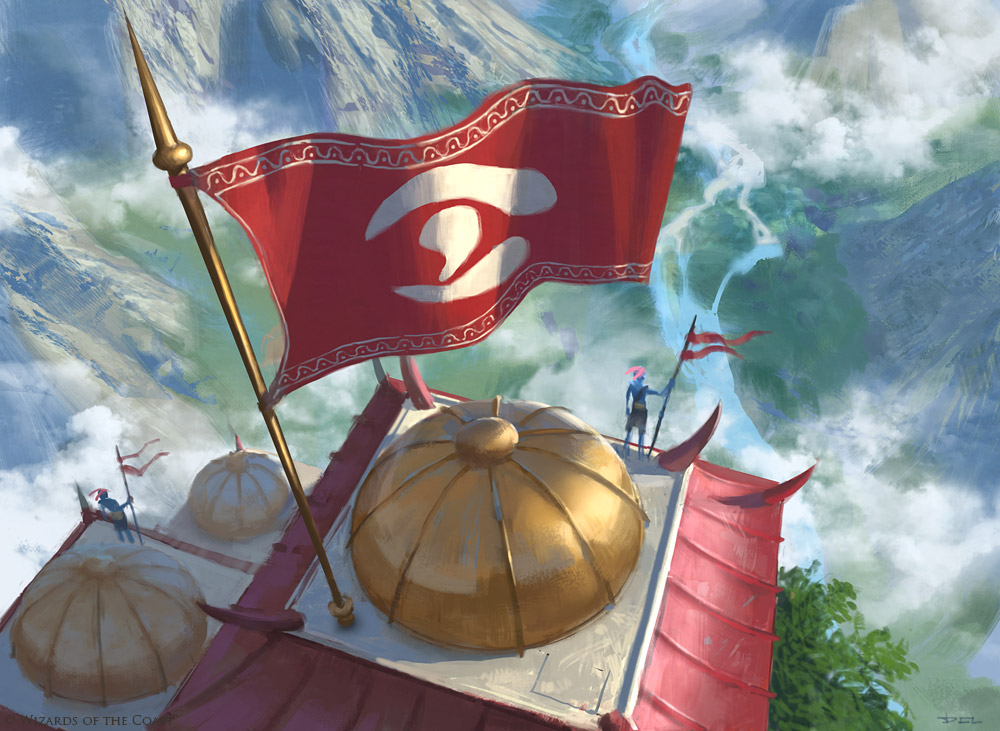 Jeskai Banner | Illustration by Daniel Ljunggren