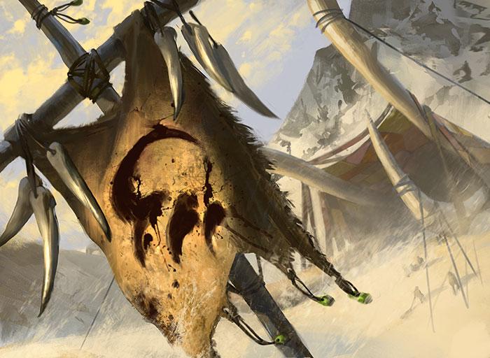 Temur Banner | Illustration by Daniel Ljunggren