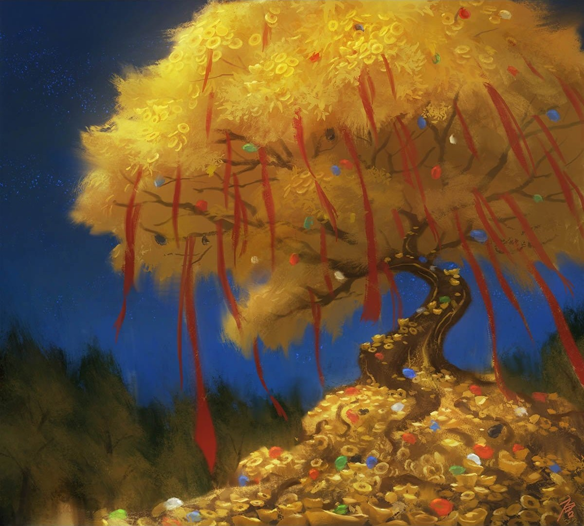 Treasure token (misc. promos) | Illustration by YW Tang