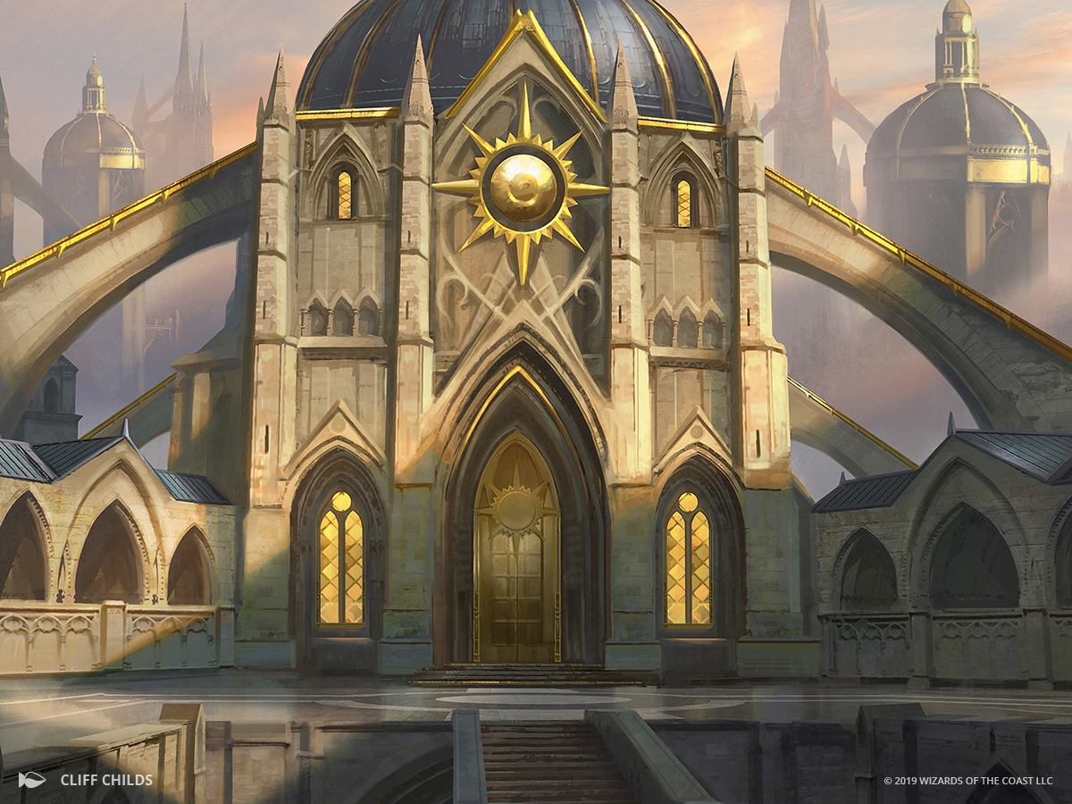 Orzhov Guildgate | Illustration by Cliff Childs